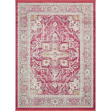 Bungalow Rose Lonerock European Pink Area Rug; Rectangle 4'3'' x 6'