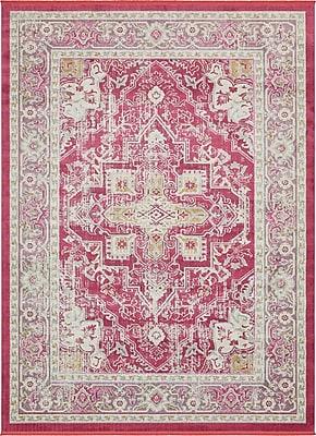 Bungalow Rose Lonerock European Pink Area Rug; Rectangle 10' x 13'