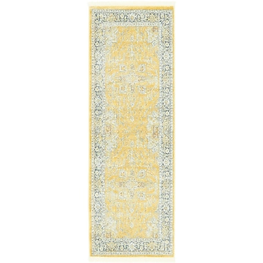 Bungalow Rose Lonerock Yellow Area Rug; Runner 2'2'' x 6'