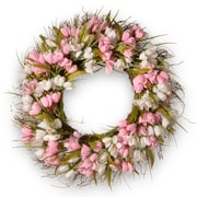 August Grove 21.65'' Tulip Wreath; Pink