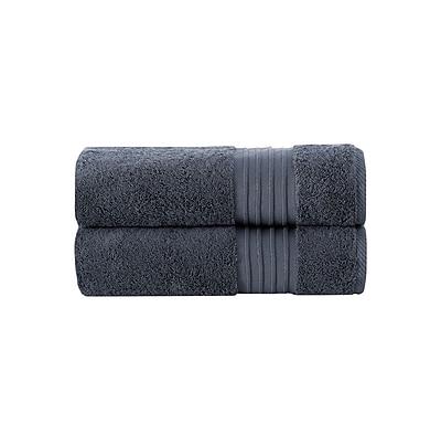 Alcott Hill Turkish Cotton Bath Sheet (Set of 2); Anthracite