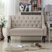 Alcott Hill Christiansburg Tufted Loveseat; Beige