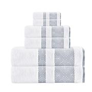Brayden Studio 6 Piece Turkish Cotton Towel Set; White