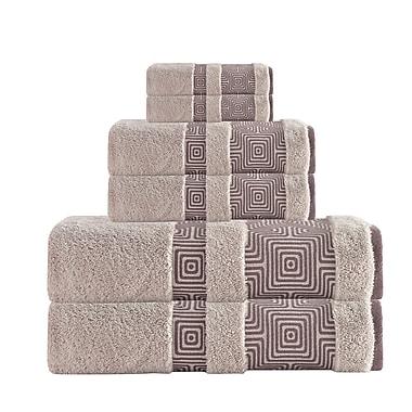 Brayden Studio 6 Piece Turkish Cotton Towel Set; Beige