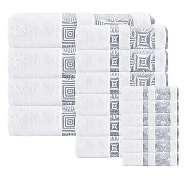 Brayden Studio 16 Piece Turkish Cotton Towel Set; White
