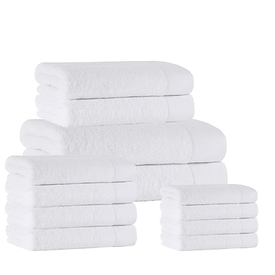 Darby Home Co 12 Piece Towel Set; White