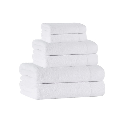 Darby Home Co 6 Piece Towel Set; White