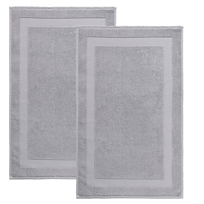 Darby Home Co Saylors Turkish Cotton Bath Rug (Set of 2); Silver