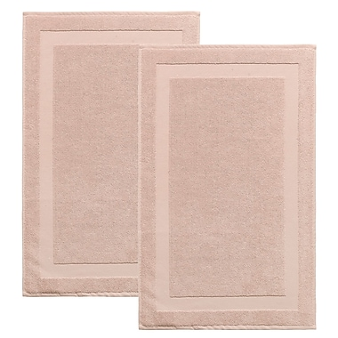 Darby Home Co Saylors Turkish Cotton Bath Rug (Set of 2); Hazelnut
