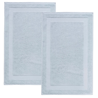Darby Home Co Saylors Turkish Cotton Bath Rug (Set of 2); Water Fall
