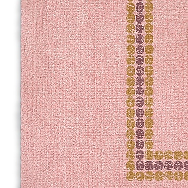 Bungalow Rose Tulelake Pink/Yellow/Purple Area Rug; Rectangle 5' x 7'