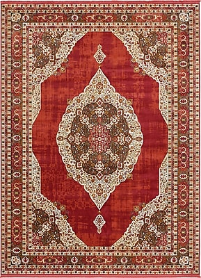 Bungalow Rose Lonerock Red Area Rug; Rectangle 10' x 13'
