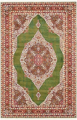 Bungalow Rose Lonerock Green/Red Area Rug; Rectangle 5'5'' x 8'
