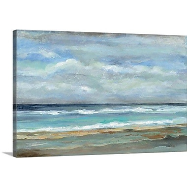 Breakwater Bay 'Seashore' Painting Print on Canvas; 32'' H x 48'' W