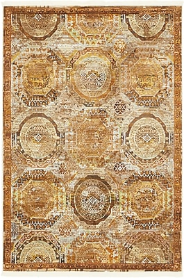 Bloomsbury Market San Marcos Brown Area Rug; Rectangle 4'3'' x 6'