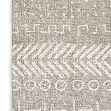 Foundry Select Geometric Gray Area Rug; Rectangle 5' x 7'