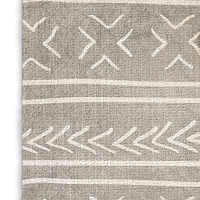 Foundry Select Modern Gray Area Rug; Rectangle 8' x 10'