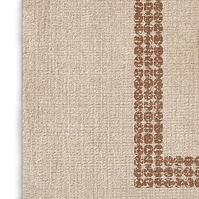 Foundry Select Cream/Red Area Rug; Rectangle 2' x 3'