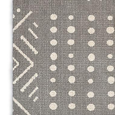 Foundry Select Geometric Gray/White Area Rug; Rectangle 8' x 10'