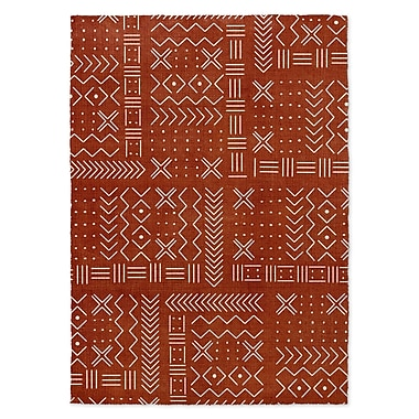 Foundry Select Hunting & Lodge Rust/White Area Rug; Rectangle 5' x 7'