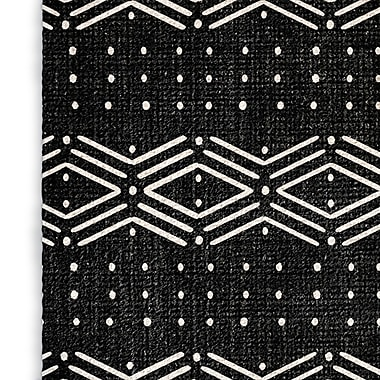 Foundry Select Rhombus Black/White Area Rug; Rectangle 3' x 5'