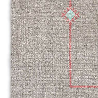 Foundry Select Gray/Pink Area Rug; Rectangle 2' x 3'
