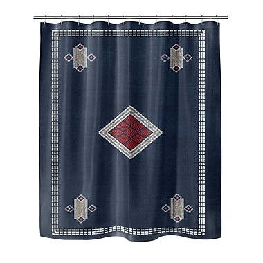 Foundry Select Shower Curtain w/ Single Sided Print; 90'' H x 70'' W x 0.1'' D