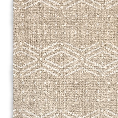 Foundry Select Modern Cream/White Area Rug; Rectangle 2' x 3'