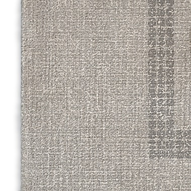 Foundry Select Geometric Gray/Red/Blue Area Rug; Rectangle 5' x 7'