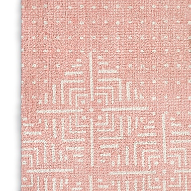 Foundry Select Blush/White Area Rug; Rectangle 2' x 3'