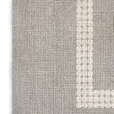 Foundry Select Gray/Red Area Rug; Rectangle 2' x 3'