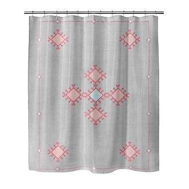 Foundry Select Geometric Woven Polyester Shower Curtain w/ Single Sided Print