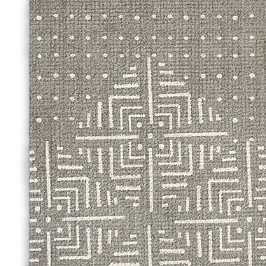 Foundry Select Rustic Gray/White Area Rug; Rectangle 8' x 10'