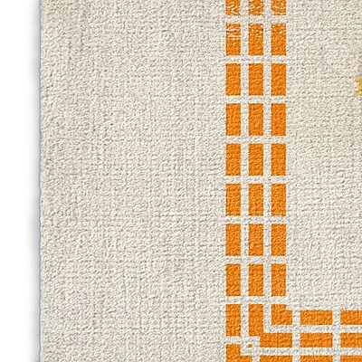 Foundry Select Gray/Orange/Pink Area Rug; Rectangle 8' x 10'