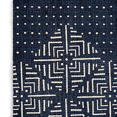 Foundry Select Inspired Blue/White Area Rug; Rectangle 2' x 3'