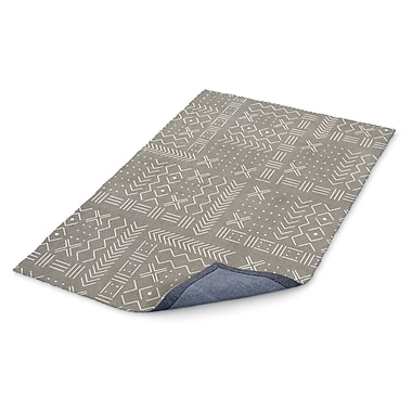 Foundry Select Global Gray/White Area Rug; Rectangle 2' x 3'