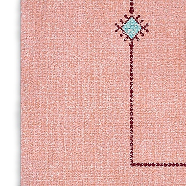 Foundry Select Pink/Blue Area Rug; Rectangle 5' x 7'