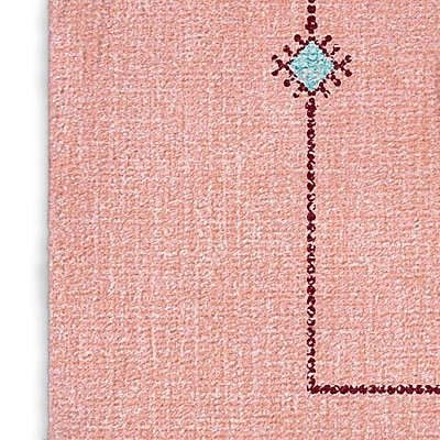 Foundry Select Pink/Blue Area Rug; Rectangle 8' x 10'