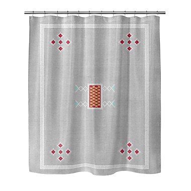 Foundry Select Single Sided Woven Shower Curtain; 72'' H x 70'' W x 0.1'' D