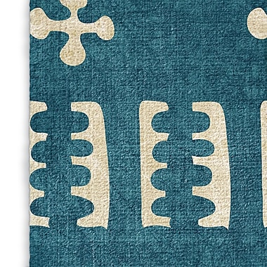 Foundry Select Cotton Teal Area Rug; Rectangle 2' x 3'