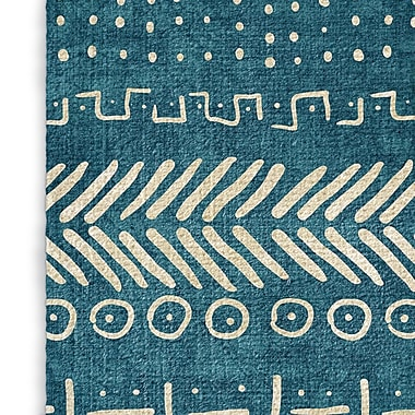 Foundry Select Soft Teal Area Rug; Rectangle 2' x 3'