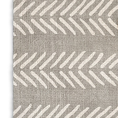 Foundry Select Gray Area Rug; Rectangle 3' x 5'