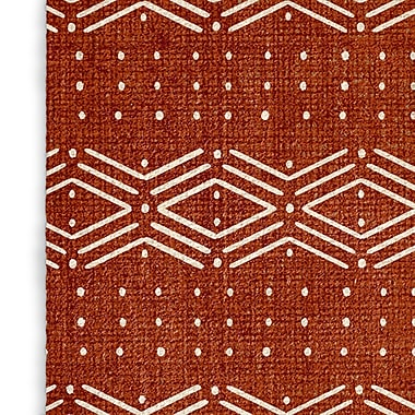 Foundry Select Soft Rust/White Area Rug; Rectangle 2' x 3'
