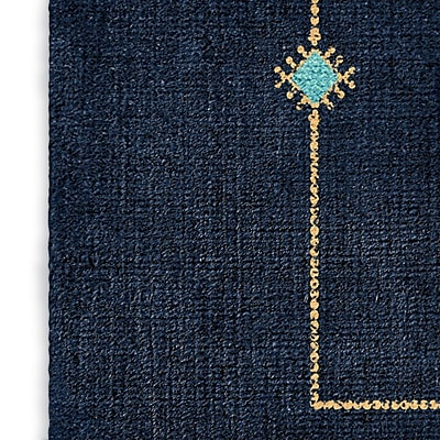Foundry Select Blue/Teal Area Rug; Rectangle 8' x 10'
