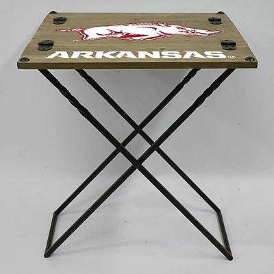 Evergreen Enterprises, Inc 19.9'' Rectangular Folding Table; University of Arkansas