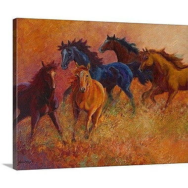 Loon Peak 'Free Range Horses' Painting Print on Wrapped Canvas; 38'' H x 48'' W x 1.5'' D