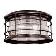 Longshore Tides Griffin 2-Light Flush Mount; Burnished Bronze
