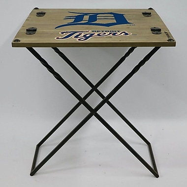 Evergreen Enterprises, Inc 19.9'' Rectangular Folding Table; Detroit Tigers
