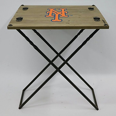 Evergreen Enterprises, Inc 19.9'' Rectangular Folding Table; New York Mets
