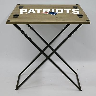 Evergreen Enterprises, Inc 19.9'' Rectangular Folding Table; New England Patriots